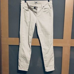 Paige white skinny jeans size 29